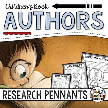 Authors Research Pennants - Theodor Geisel, Roald Dahl, Jan Brett and More