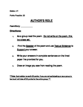 Author's Role, Author's Craft, Format, Title/Tone/Theme, Shift/Summary