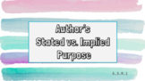 Author's Stated or Implied Purpose 5.3.R.1