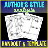 Author's Style Graphic Organizer