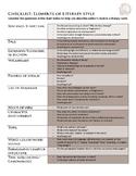 Author's Style Checklist