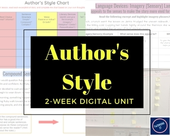 Author's Style Two-Week Digital Unit : Grades 5-8