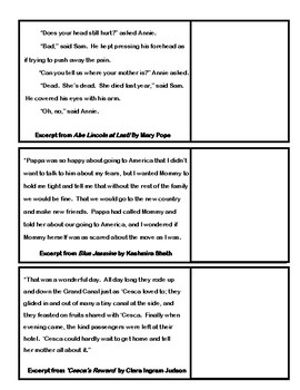 Author's Tone Cut and Paste - Interactive Reader's Notebook Activity