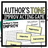 Author's Tone Improv Game