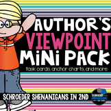 Author's Viewpoint anchor charts and printables