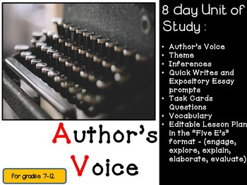 Author's Voice and Theme