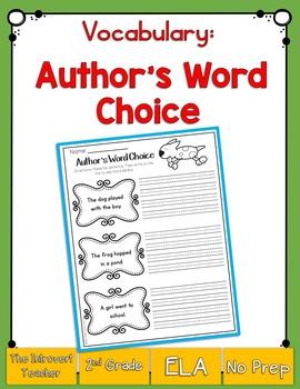 Author's Word Choice Printable