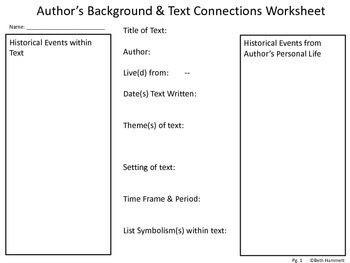 Author's Background and Text Connections