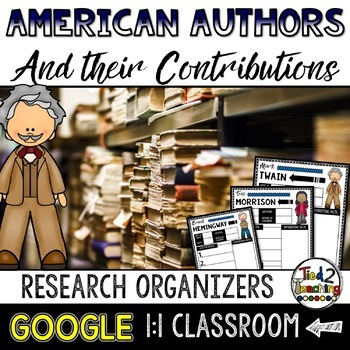 Authors Biography Report & Informational Writing: Google Classroom