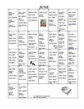 Authors+ Birthday Calendar