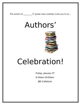 Author's Celebration Invitation (Editable)