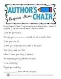 Author's Chair Response Stems