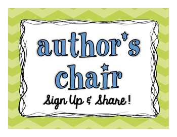 Author's Chair | Sign
