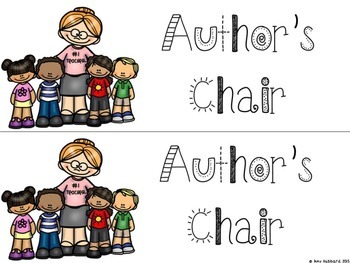 Author's Chair Signs
