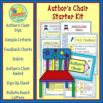Author's Chair - Starter Kit, Sign, Criteria, Feedback Cha