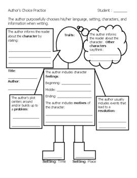 Author's Choice of Language Graphic Organizer