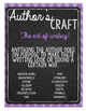 Authors Craft Classroom Poster Chevron and chalkboard