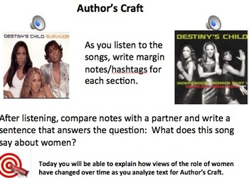 Close Reading: Girl Power!-Women's Suffrage to Beyonce and