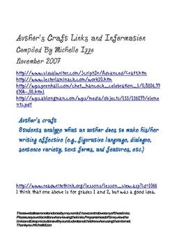 Author's Craft Links- Reading Street Grade 4