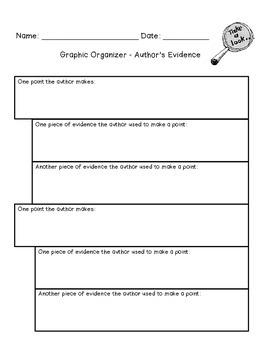 Author's Evidence Graphic Organizer
