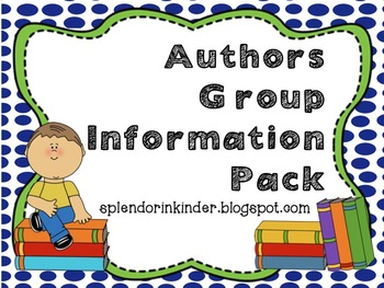 Authors Group Information Pack
