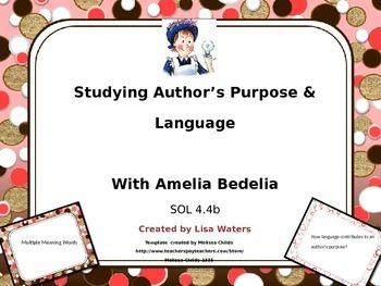 Author's Language & Purpose Study with Amelia Bedelia