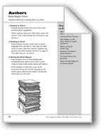 Authors (Learn About an Author): Book Report Form