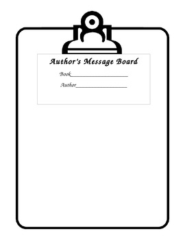 Author's Message Board