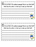 Author's Message Mini Extended Response