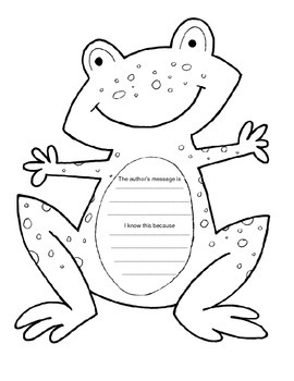 Author's Message- frog theme