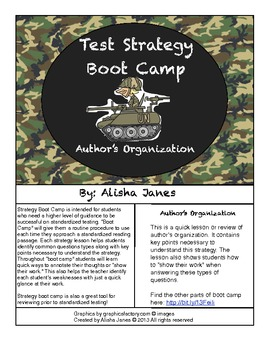 Author's Organization Strategy Boot Camp
