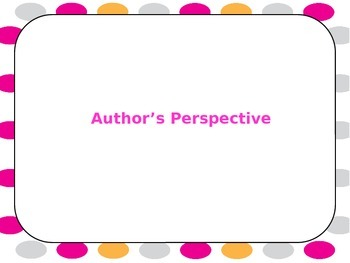 Author's Perspective