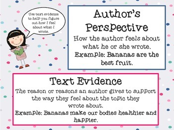 Author's Perspective Anchor Chart