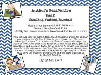 Author's Perspective Packet- Camping, Fishing, Baseball
