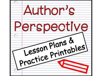 Author's Perspective: How To Teach, Practice printables and graphic organizer