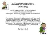 Author's Perspective Passages and Assessments- Camping