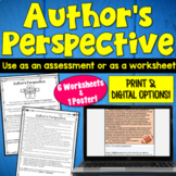Author's Perspective: 6 Worksheets  | PDF and Digital | Distance Learning