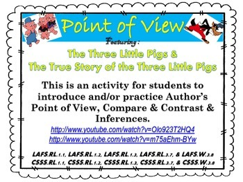 Author's Point of View   Compare/Contrast