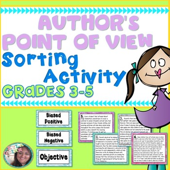Author's Point of View (Author's Perspective) Sorting Activity 4.RI.8/5.RI.8