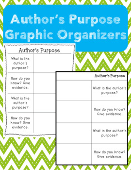 Author's Purpose Worksheet by Learning Littles   TpT