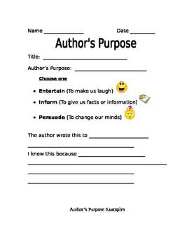 Author's Purpose - BUNDLED package
