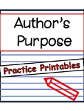 Reading Compehension: Identify the Author's Purpose /Print