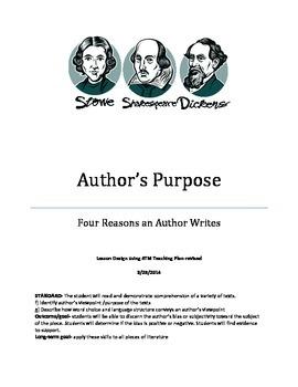 Author's Purpose Lesson Plan