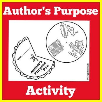 Authors Purpose Pie | Authors Purpose Activity