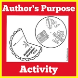 Authors Purpose | Craft Activity | Kindergarten 1st 2nd 3r