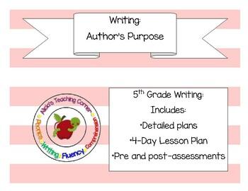Author's Purpose: Common Core 5th Grade Writing
