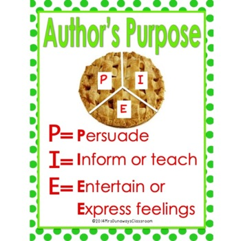Author's Purpose:  A Piece of the Pie