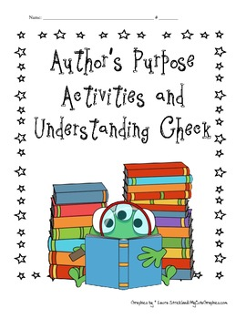 Author's Purpose Activities and Understanding Check