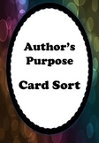 Author's Purpose Activity Cards