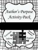 Author's Purpose Activity Pack